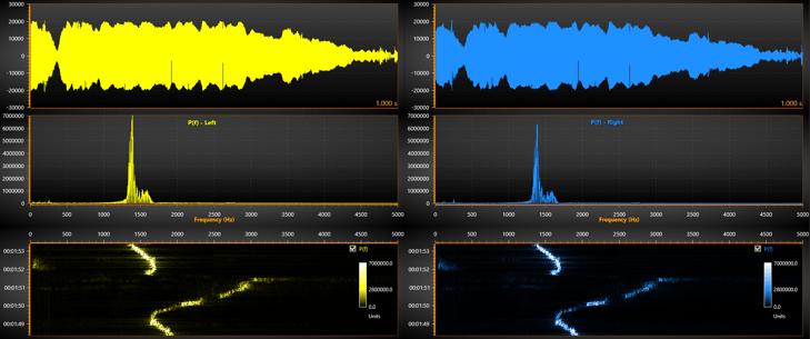 Vibration - Waveform, Power Spectrum and Spectrogram
